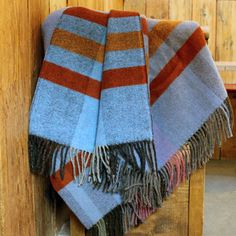 Blue and Copper Couthy Blanket