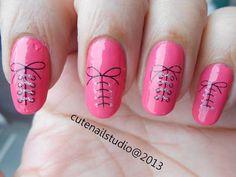 Cute nails: Neon nails 4: Lakme Absolute nail Tint in Fushia Sorbet