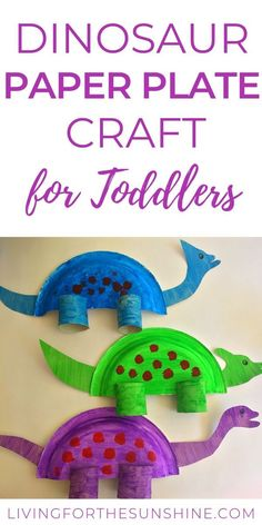 This adorable dinosaur paper plate craft for toddlers is the perfect activity for you and your little one toddlercraft toddler dinosaurcraft Toddler Arts And Crafts, Craft Activities For Kids, Diy Crafts For Kids, Toddler Paper Crafts, Craft Ideas, Spanish Activities, Physical Activities, Daycare Crafts, Preschool Crafts