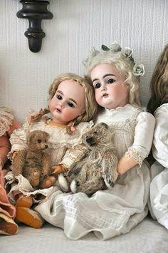poupées et ours anciens
