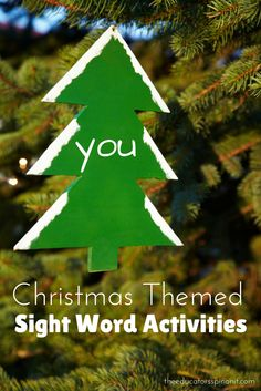 A collection of Christmas Themed Sight Word Activities for Kids.  Sneak a little reading fun into the holiday season.