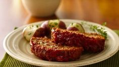 Classic meatloaf made delicious using Progresso® Italian style bread crumbs - a scrumptious dinner.