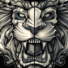 Tattoo L, Hanya Tattoo, Lion Tattoo, Tattoo Drawings, Art Drawings, Body Art Tattoos, Armor Tattoo, Norse Tattoo, 3d Tattoos