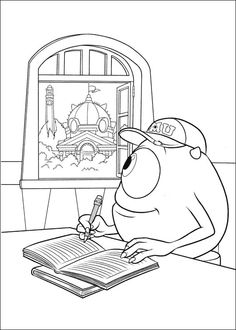 monsters inc university coloring pages 11