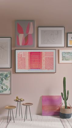 Make your space your own with the new Samsung Frame, elegantly transitioning from art to TV.