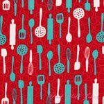 Laurie Wisbrun Table Talk Utensils Red Celebration