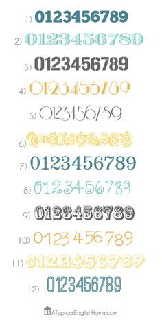 free numbers fonts - Cerca con Google