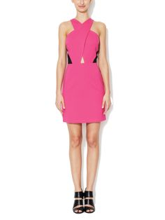 Crisscross Cut-Out Sheath Dress by The Letter at Gilt