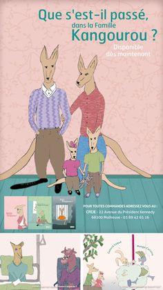 Mise en couleur des trois livres pour enfants Hui, Childrens Books, Family Guy, Blog, Fictional Characters, Beautiful Book Covers, Book Covers, Kangaroo, Children