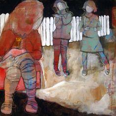 SNIPP SNAPP SNUTE BY ANNE-BRITT KRISTIANSEN  #fineart #art #painting #kunst #maleri #bilde  www.annebrittkristiansen.com/anne-britt-kristiansen-kunst-2012 Paintings, Fine Art, Art, Photo Illustration, Paint, Painting Art, Painting, Visual Arts, Portrait