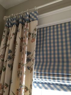 Lot's of window treatment ideas for spring. A new season is the perfect time to dress up your windows with clever upgrades of curtains, shades, blinds and more. - Check Out THE PIC for Lots of Ideas for DIY Window Treatments. Curtains And Draperies, Drapery, Valances, Fabric Blinds, Toile Curtains, Short Curtains, Burlap Curtains, Cafe Curtains, French Country Kitchens