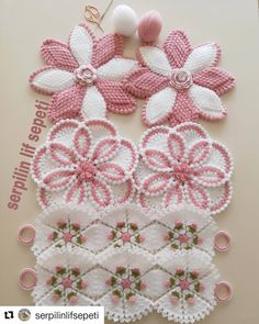 Crochet Cluster Stitch, Puff Stitch Crochet, Crochet Motif, Crochet Flowers, Crochet Stitches, Hand Embroidery Projects, Crochet Projects, Crochet Toddler, Crochet Baby