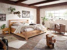 Dieses natürliche Bett von massivum lädt zum träumen ein