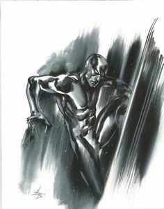 Gabriele Dell'Otto Silver Surfer Comic Art