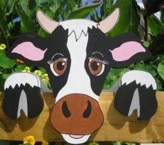 Kuh Gretel Kühe großes Kalb Garten ZAUN TIER FIGUR Deko - Bild vergrößern