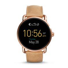 Damen Smartwatch Q Wander - Touchscreen - Leder - Beige