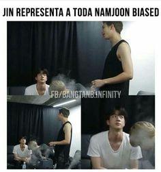 NamJin prrras >: v Namjin, Bts Jin, Bts Bangtan Boy, Vkook Memes, Drama Memes, K Pop Memes, Bts Chibi, Foto Bts, Meme Faces