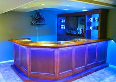 It's a bird, it's a plane, no wait, it's a bar! This super bar project built by member Mike S. is our bar of the month and a DIY project you too can build. Home Bar Plans, Basement Bar Plans, Basement Bar Designs, Home Bar Designs, Basement Remodeling, Basement Ideas, Small Basement Bars, Diy Home Bar, Bars For Home