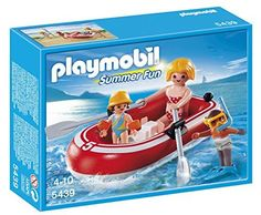 PLAYMOBIL Swimmers with Raft Playset ** More info could be found at the image url.