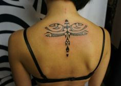 Dragonfly Polynesian Tattoo #tattoos #tattoodesigns #polynesiantattoodesigns  http://tattoodesignsdo.com/polynesian-tattoo-designs/