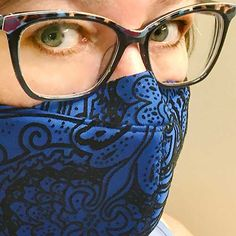 Fitted Face Mask Pattern for Glasses Easy Face Masks, Best Face Mask, Diy Face Mask, Sewing Hacks, Sewing Tutorials, Sewing Crafts, Sewing Blogs, Sewing Tips, People With Glasses