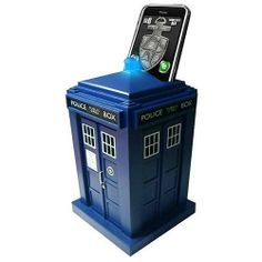 "DR181 Features: -Sound and light effects.-Easy and fun to operate.-Compatible with iPhone 3, 4, 4S, Android phones and iTouch.-Tardis shape.-6.1"" H x 6.1"" W x 10.8"" D, 1.5 lbs. Collection: -Doctor Who."