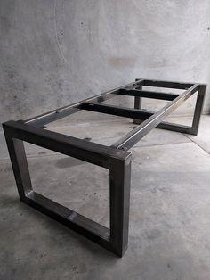 Flat Metal Table Frame and Bench Legs Bundle Welded Furniture, Industrial Furniture, Pallet Furniture, Furniture Makeover, Rustic Industrial, Refurbished Furniture, Garden Furniture, Painted Furniture, Outdoor Furniture