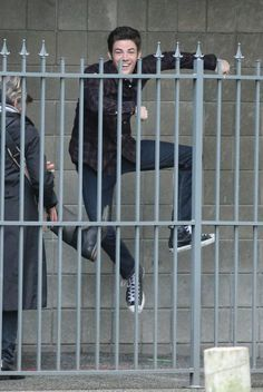 "Stars of the hit CW show ""The Flash"" film a robbery scene in Vancouver, Canada on March 11, 2015"