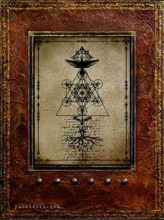 catalyst III (book of the tree) mixed media photography, wax on wood panel © Yuko Ishii www.yukoishii.com