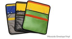 """Three inside pockets, 1/8"""" internal padding, and rugged pack cloth interior. Holds & protects all sizes of iPad, Kindle, and tablets with added pockets for your cell phone & sundries. Removable black snap strap."""