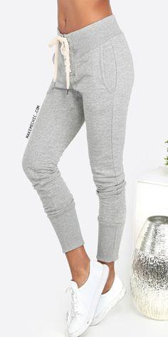 Lace Up Sweatpants GREY