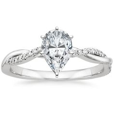 18K White Gold Petite Twisted Vine Diamond Ring from Brilliant Earth
