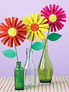 cardboard tube flowers