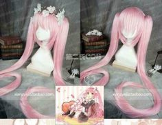 Cosplay Boots, Cosplay Wigs, Cosplay Costumes, Cosplay Ideas, Girl With Pink Hair, Pastel Pink Hair, Party Hairstyles, Wig Hairstyles, Yuno Gasai