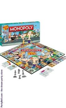 Cutting edge Disney Phineas and Ferb Monopoly Game Collector's Edition. Sensational ideas of Disney Kids Gifts for Birthday at PartyBell. Watch Phineas And Ferb, Phineas Und Ferb, Monopoly Board, Monopoly Game, Disney Wiki, Disney Pixar, Perry The Platypus, Bored Games, I Love Mom