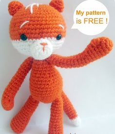 Cat free crochet pattern by blogger Baghi