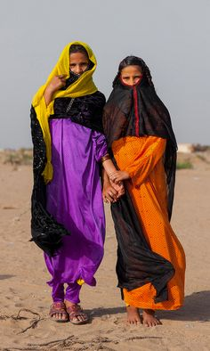 Africa | Rashaida girls. Port Sudan, Sudan. | ©Eric Lafforgue