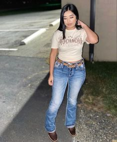 Country Chic Outfits, Cowgirl Style Outfits, Western Outfits Women, Southern Outfits, Cowgirl Outfits, Baddie Outfits Casual, Cute Outfits, Mexican Outfit, Teenager Outfits