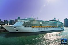 Royal Caribbean Freedom of the Sea Cruise Ship at Miami Port