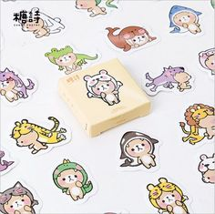 45 Pcs/pack Animals Party Don't Bite Me Hand-painted Decorative Stickers DIY Planner Decoration Diary Scrapbook Lable Stickers