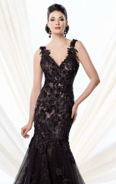 Lace Evening Gown by Ivonne D Exclusively for Mon Cheri 214D58