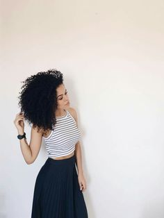 Would wear this Look Fashion, Urban Fashion, Fashion Outfits, Womens Fashion, Skirt Outfits, Cool Outfits, Summer Outfits, Curly Hair Styles, Natural Hair Styles