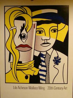 Vtg Mid Century Painting Lithograph Roy Lichtenstein Old Wallace Wing Exhibit | eBay