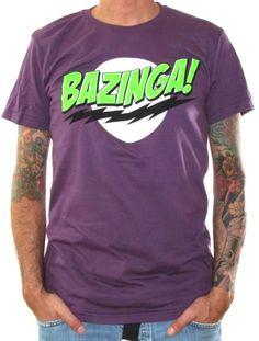 Click for Full Size Image of Big Bang Theory, T-Shirt, Bazinga Purple