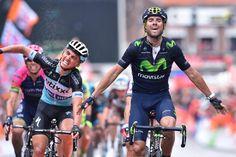 Alejandro Valverde (Movistar) wins in Ans (Tim de Waele/TDWSport.com)