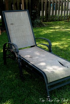 Refurbish your old chaise loungers