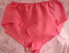 8 PR-100%-SILK-SLIPPERY-BOY CUT PANTIES-DEEP-PINK-VINTAGE NEW OLD STOCK NIB-L #UNDERWRITERS #boyshorts