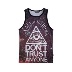 Designer Clothes, Shoes & Bags for Women Graphic Tank Tops, Purple Tank Top, Galaxy Print, Cami Tops, Graphic Prints, Tank Man, Contrast, Cool Outfits, My Style
