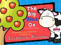 Supplemental teacher created resources for Reading Street first grade Unit 1 Week 3 -- The Big Blue Ox.  My TEACHER PACK includes mini-lessons, literacy station activities, station games, R.T.I. nonsense word materials, and tons of high quality printables which support first grade Reading Foundational Skills.