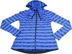 Lukka Womens Small Active Front Zip Hoodie Jacket, Electric Blue